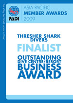 PADI Award Outstanding Business